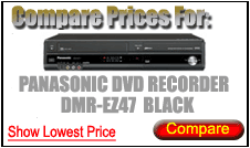 Compare Prices for Panasonic Dvd Recorder DMR-EZ47 Black